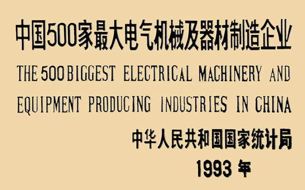 The 500 Biggest Electrical Machinery and Equipment Producing Industries in China