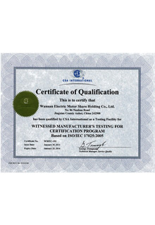 CSA International Certificate