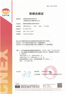 Ex d IIBT4 Gb Explosion-proof certificate for dangerous plant
